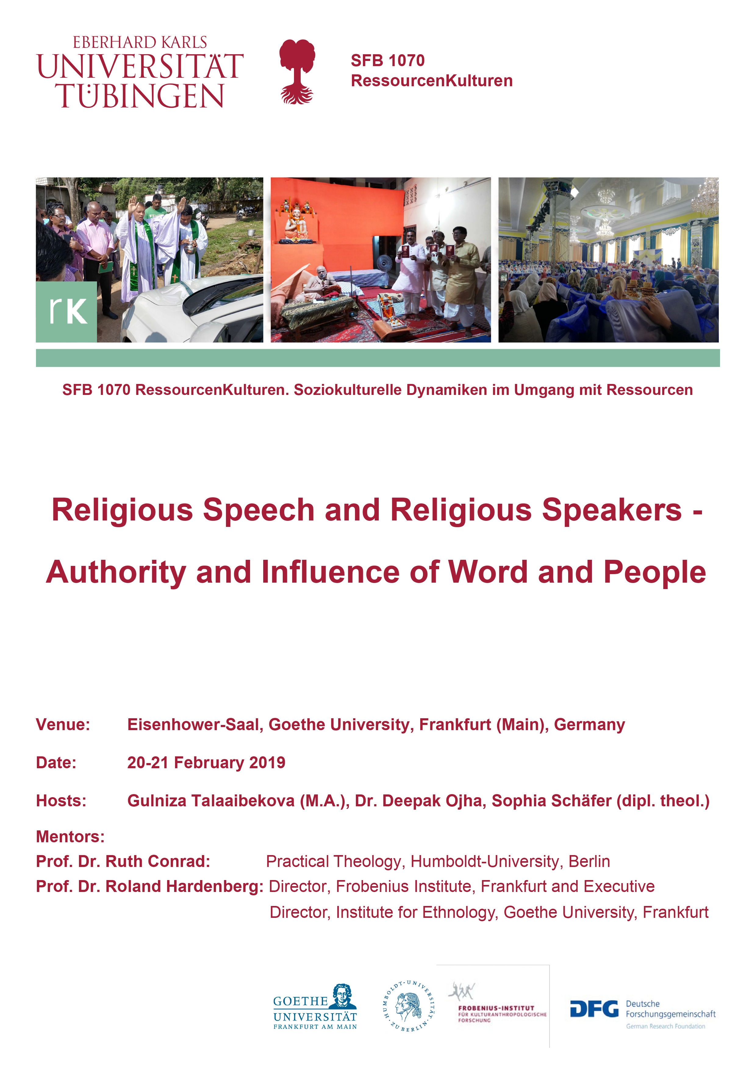 Workshop Religious Speech and Religious Speakers